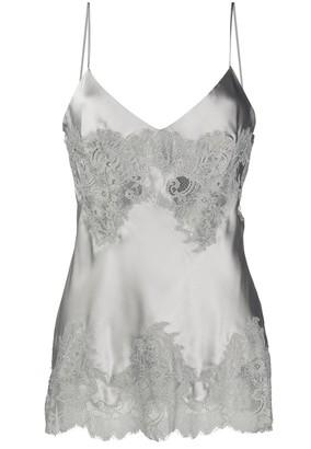 Ermanno Scervino Lace Embellished Slip Top