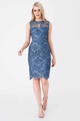 Paper Dolls Copeland Prussian Blue Lace Pencil Dress
