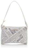 Love Moschino Women's Love Printed Shoulder Clutch Bag White
