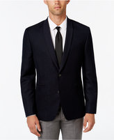 Bar III Men's Slim-Fit Dark Navy Patterned Evening Jacket, Only at Macy's