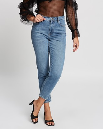 Mng Women's Blue High-Waisted - Mom Fit Jeans - Size 32 at The Iconic