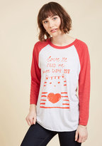 ModCloth Wants and Kneads Long Sleeve Top in XS