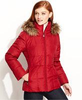Jacket, Faux-Fur-Trim Hooded Puffer Parka