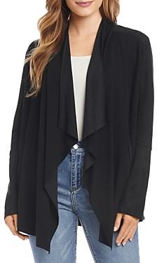 Karen Kane Mixed-Media Drape Front Jacket - 100% Exclusive