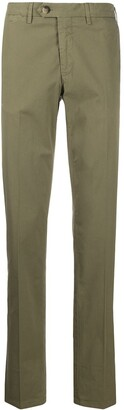 Canali Off Centre Button Chinos