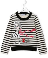 Simonetta Strike a pose! print sweatshirt - kids - Cotton - 6 yrs