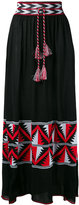 Laneus Aztec panel maxi skirt - women - Cotton/Viscose - 42