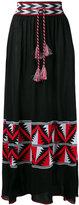 Laneus Aztec panel maxi skirt
