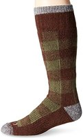 Dickies Men's 1 Pack Steel Toe Wool Buffalo Plaid Boot Crew Socks