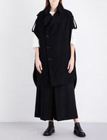 Y's Ys Epaulette-detail wool-blend coat