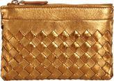 Bottega Veneta Ayers Intrecciato Key Holder Zip Case