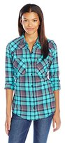 Fox Juniors Flown Flannel Plaid Shirt