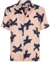 Burberry Bird Print Linen Shirt