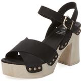 KMB Tino Leather Platform Sandal