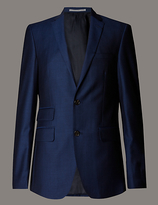 Autograph Blue Tailored Fit Wool Jacket