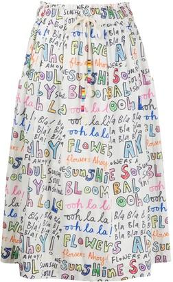 Mira Mikati Ooh La La print tie waist skirt
