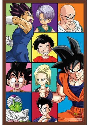 Dragon Ball Z Trends International Grid Poster