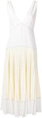 Proenza Schouler White Label Colour-Block Pleated Dress