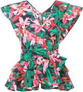 Marissa Webb floral print frill top