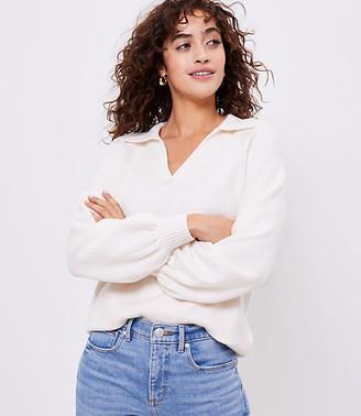 LOFT Cozy Polo Sweater