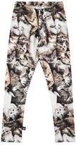 Molo Niki Kitten Stretch Jersey Leggings, Gray, Size 3-12