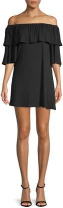 Rachel Pally Kylian Off-The-Shoulder Mini Dress