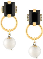 Marni drop faux pearl pendant earrings