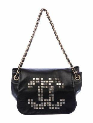 Chanel Mosaic Studs Accordion Flap Bag Black