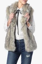 7 For All Mankind Luxe Faux Fur Vest In White And Black