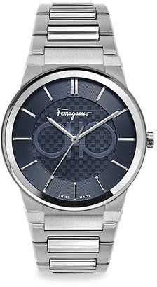 Salvatore Ferragamo Sapphire Stainless Steel Bracelet Watch