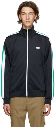 Diesel Black S-Kraim Zip-Up Track Jacket