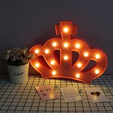 3D Crown Marquee Sign Light,LED Queen Princess Kings Shaped Sign-Lighted,Wall Decor for Chistmas,Birthday party,Kids Room, Living Room, Wedding Party Decor(Pink)