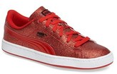 Puma Girl's Basket Holiday Glitz Shoe
