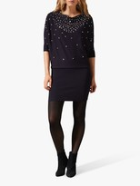 Phase Eight Becca Sequin Dress, Navy