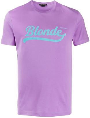 Versace Blonde slogan T-shirt