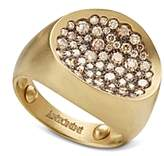 Antonini Matte 18K Yellow Gold Matera Small Pave Cognac Diamond Ring