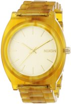 Nixon Women's Time Teller A3271423 Gold Plastic Quartz Watch with Gold Dial