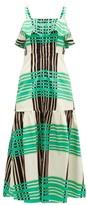 Borgo de Nor Florence Checked Cotton-poplin Dress - Womens - Green White