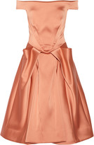 Zac Posen Off-the-shoulder satin dress