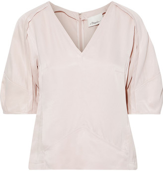 3.1 Phillip Lim Gathered Satin Top