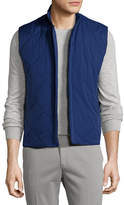 Loro Piana Horsey®; Wind Soft Quilted Vest, Twilight Blue