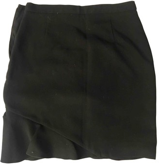 Emilio Pucci Black Wool Skirt for Women Vintage