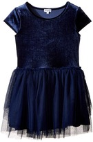 Splendid Littles Velour with Triple Mesh Dress (Little Kids)