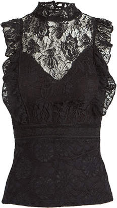 Nightcap Clothing Victorian Lace Sleeveless Blouse