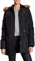 Levi's Faux Fur Hood Diamond Quilted Parka