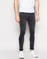 Pull&bear Super Skinny Fit Jeans In Grey Wash