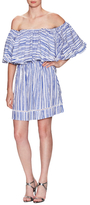 Nicholas Washed Stripe Voile Frill Mini Dress