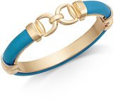Charter Club Gold-Tone Faux Leather Interlock Bracelet, Created for Macy's