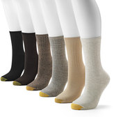 Gold Toe GOLDTOE® 6-pk. Ribbed Crew Socks