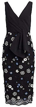 Lela Rose Women's Resort Tie-Front Lace Sheath Dress